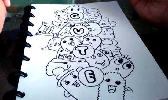 20 Contoh Gambar Doodle Art Simple Mudah Di Tiru  GRAFIS