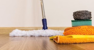 lantai kayu bersih