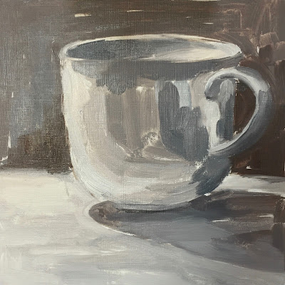 Daily Painting #12 Tea Cup Study 7×7″ Oil on Paper