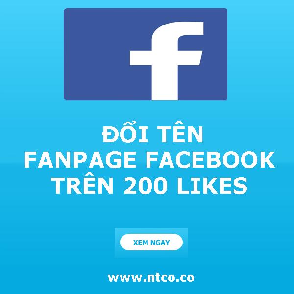 huong dan doi ten fanpage facebook de dang