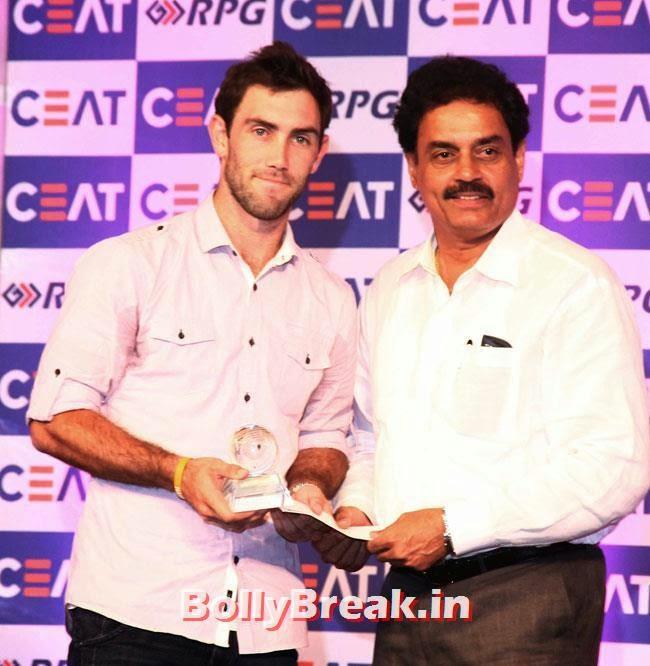 Glenn Maxwell and Dilip Vengsarkar, Chitrangada Singh performed at CEAT Cricket Ratings Awards 2014