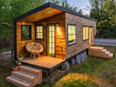 Desain Rumah Kayu Mini Keren
