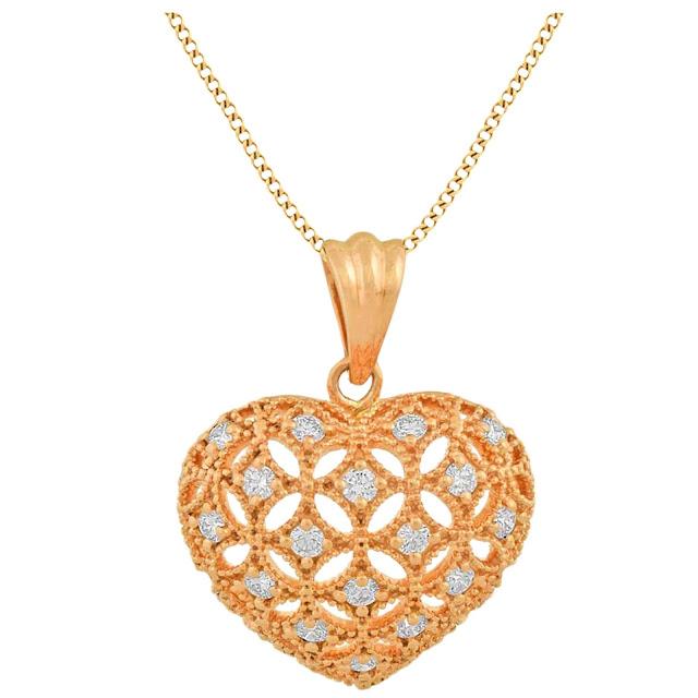 Rosegold Heart Pendant by Velvetcase.com