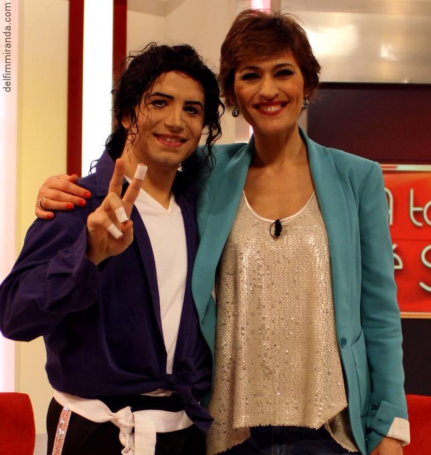 Delfim Miranda - Michael Jackson Tribute - With TV presenter Fatima Lopes