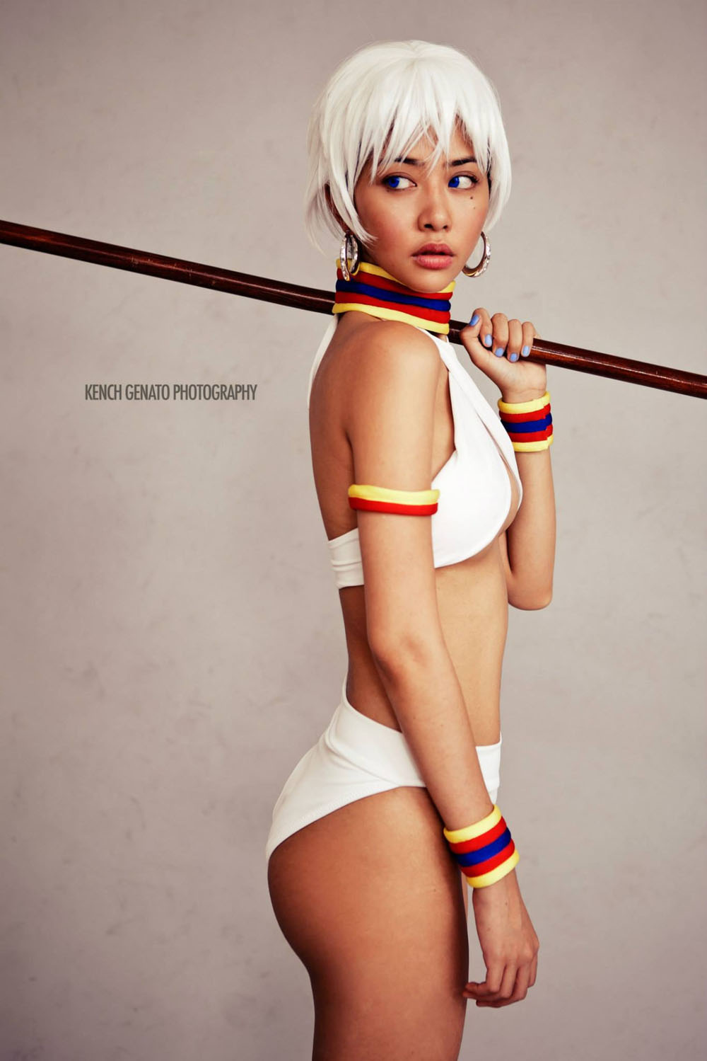 nicole alexandria cosplaying elena of street fighter 05