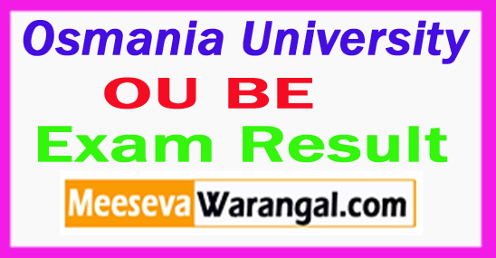Osmania University BE Result 2017