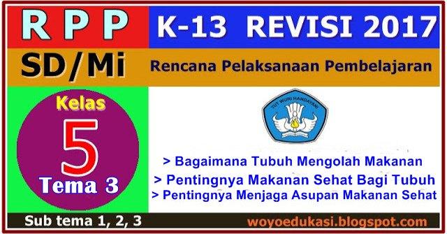 R P P Kurikulum 2013 Revisi Baru Sd Mi Kelas 5 Sd Tema 3