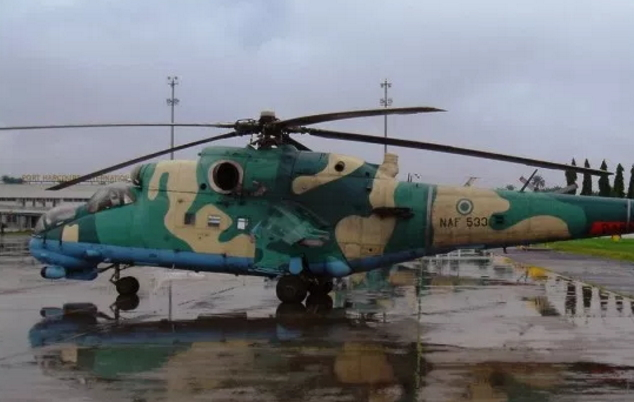nigerian airforce helicopter crashed into water