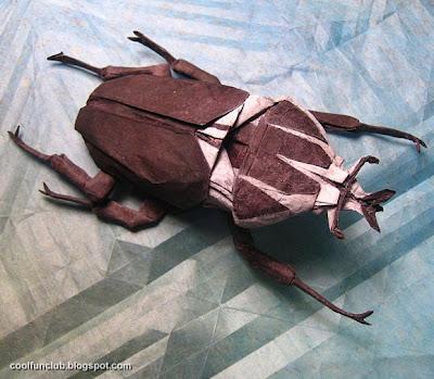 Escarabajo de papel - Papiroflexia u origami.