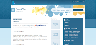 Smart Touch, Template Blog SEO
