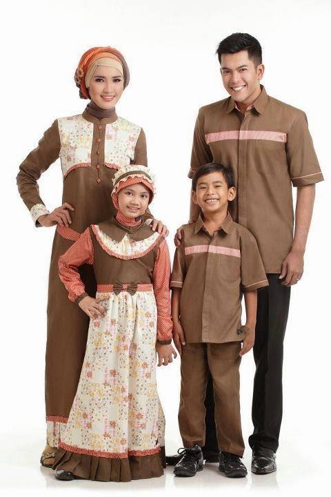 Contoh Baju Muslim Sarimbit Gamis Keluarga 2015