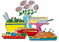 drawing of side dishes