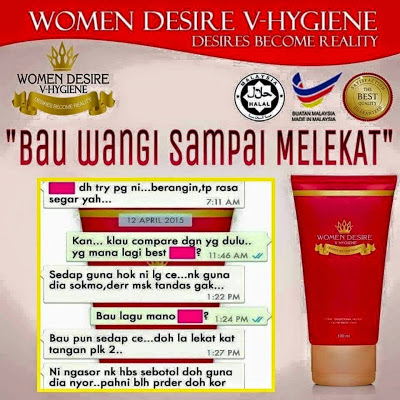 TESTIMONI PENGGUNA WOMEN DESIRE V HYGINE FEMININE WASH
