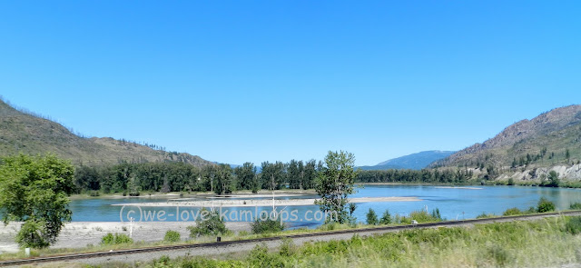 This view of the river is taken from the Yellowhead Hwy across the CN rail tracks.