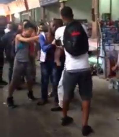 Video, photos: Chinese men beat Nigerian man to stupor in China