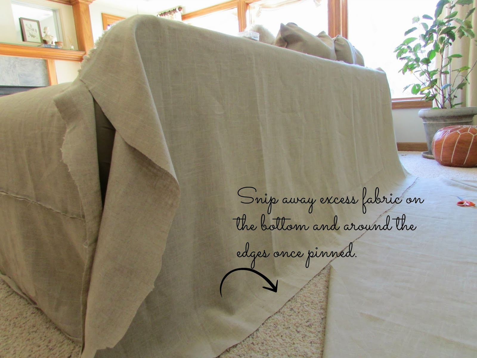 SimplyLinen Linen Slipcovered Couch Tutorial