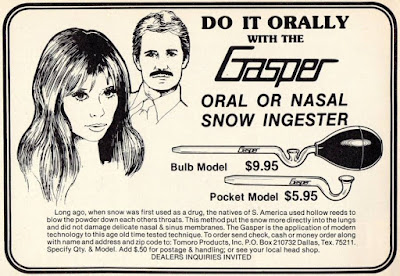 Gasper oral or nasal snow ingester