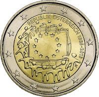 2€ Drapeau Européen 2015 Autriche