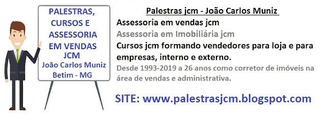 PALESTRAS, CURSOS E ASSESSORIA EM VENDAS JCM
