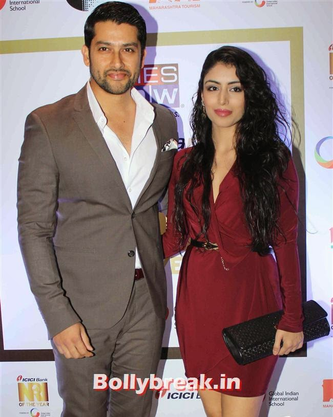 Aftab Shivdasani and Nina Dusanj, Monali Thakur, Pooja Bedi, Amitabh  NRI of The Year Awards 2014
