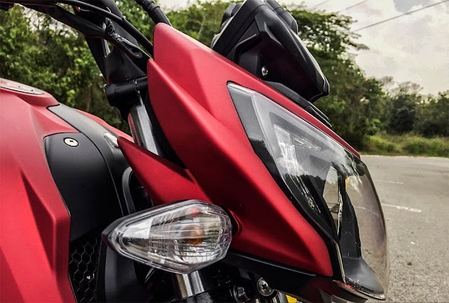 New TVS Apache RTR 200 4V side light