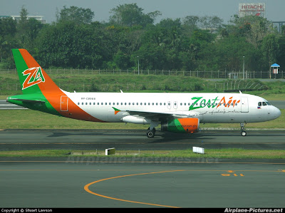ZestAir airplane on take-off