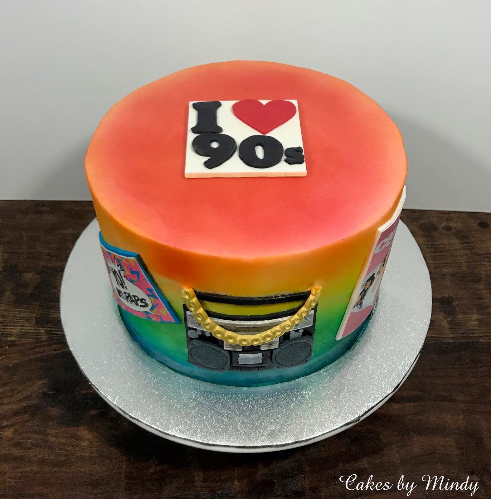 90s Birthday Cake 8