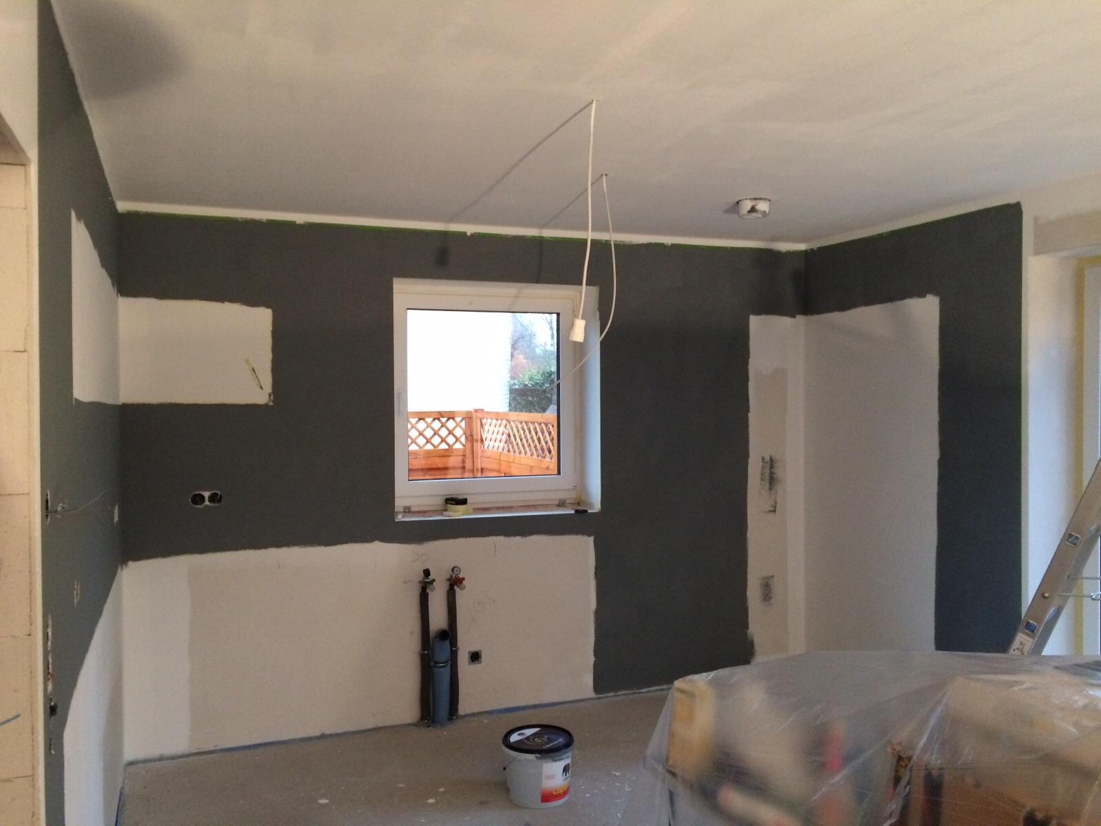 2015 unser haus wir bauen mit pde massivbau spachteln der gipskartonplatten streichen der. Black Bedroom Furniture Sets. Home Design Ideas
