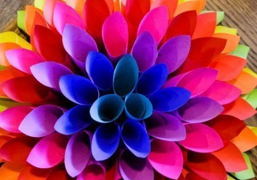 Как сделать объемный цветок схема 954