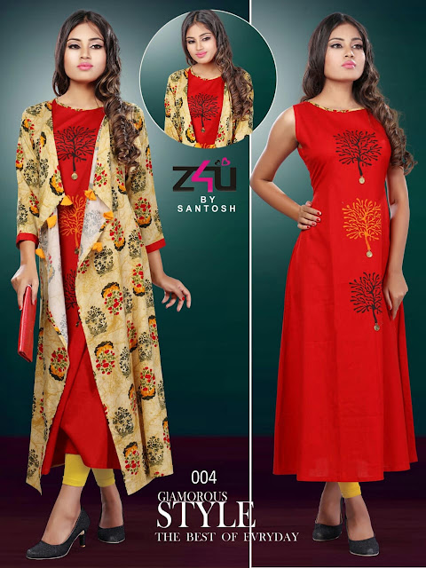 Z4U Kangana kurtis With Shrug Latest Design
