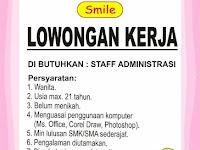 lowongan kerja staff administrasi smile gift shop surabaya