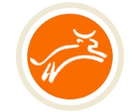 logo for Heifer Project, a leaping cow in an orange circle