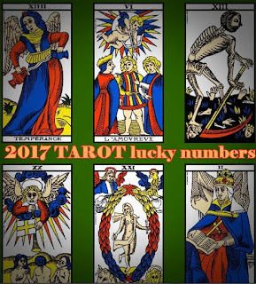 2017 TAROT reading lucky numbers for business and home