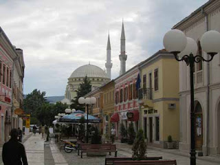 Downtown Pedestrian Street Molo Promenade Shkodar Shkoder Albania