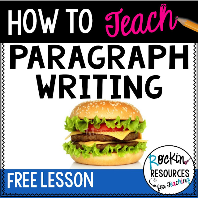 free writing lesson on topic sentences, relevant details, and closing sentences.