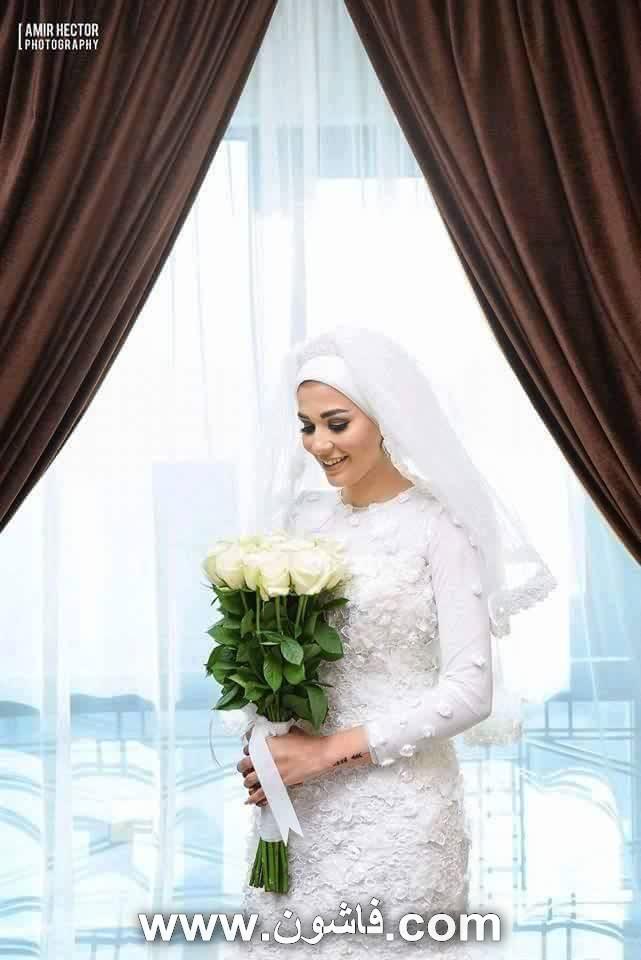 bfc017897e20f فستان زفاف محجبات