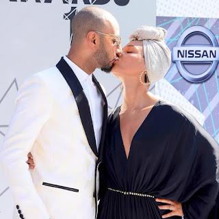 AliciaKeys and husband Swizz Beatz at BET Awards