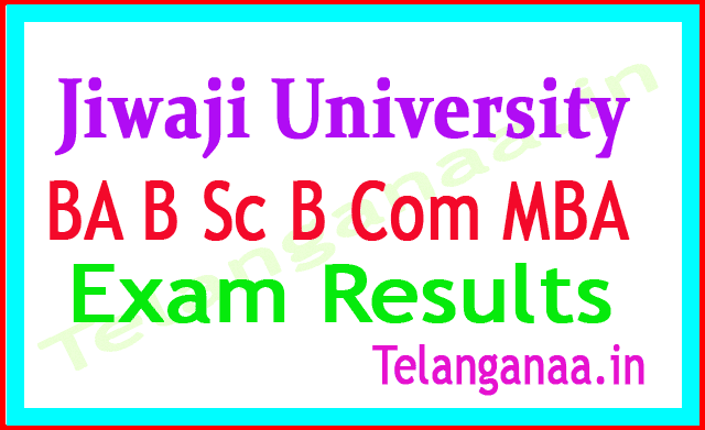 Jiwaji University BA B Sc B Com MBA Exam Result 2018