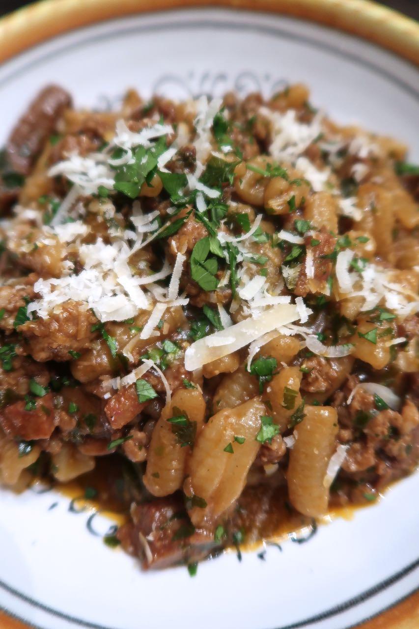 Scrumpdillyicious: Cavatelli with Porcini Mushroom & Sausage Ragù