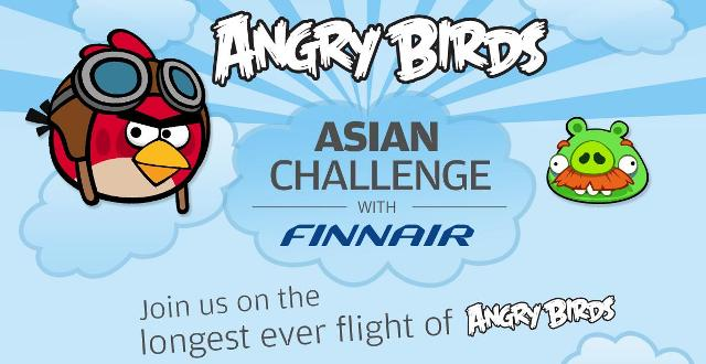 finnair angry birds asian challenge flight helsinki