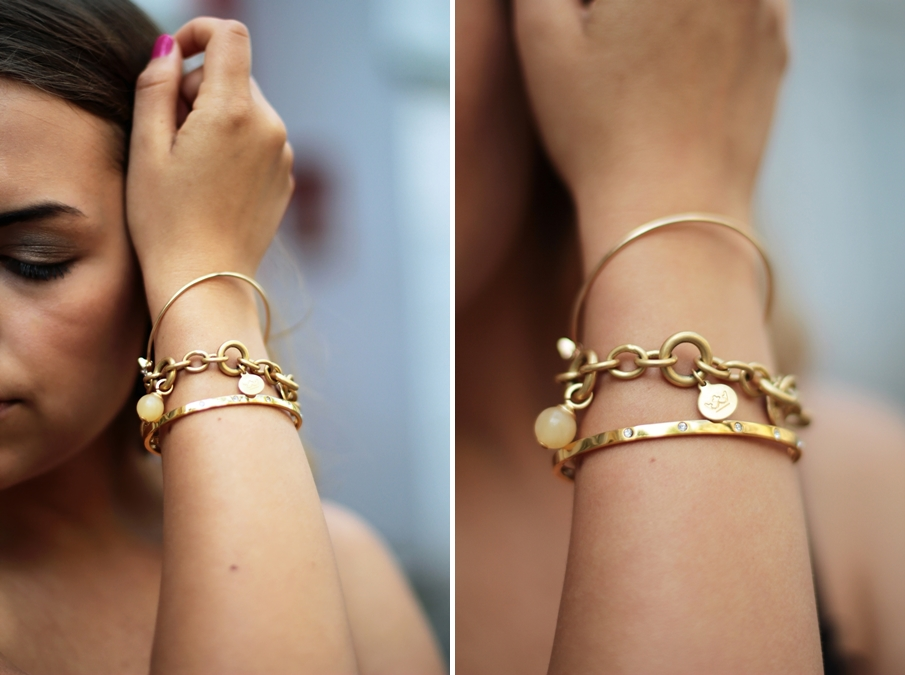 accessoires gold bracelet make up