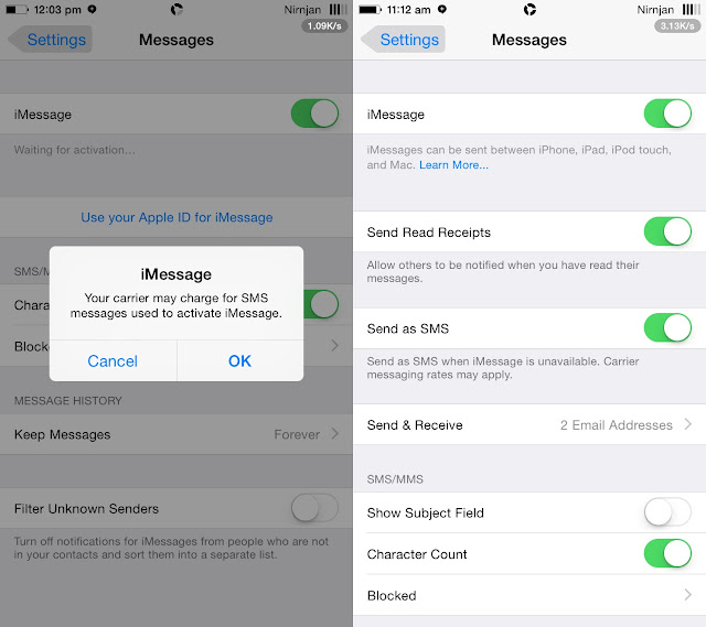 Here's how to fix Facetime and iMessage activation error(waiting for Activation) on iPhone/iPad running iOS 11 10,9,8 or below Successfully..