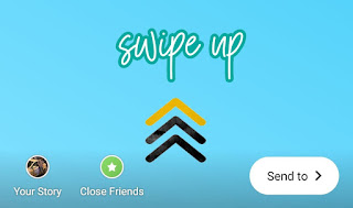 Add swipe up call to action