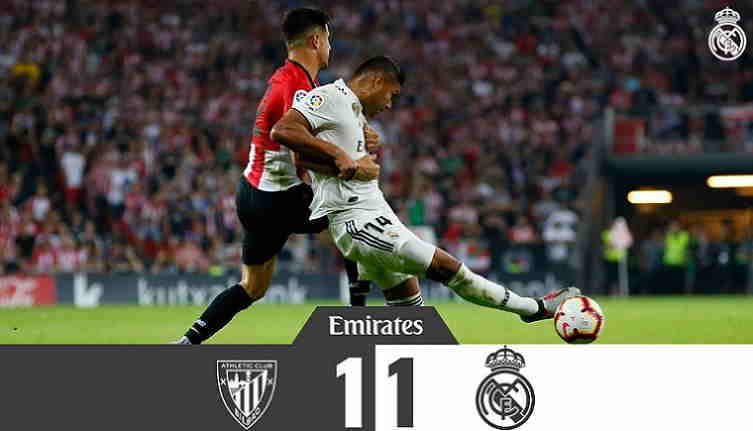 Hasil Athletic Bilbao vs Real Madrid Skor Akhir 1-1 [La Liga 2018]