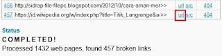 Gambar 5 Cara Mengecek Broken Link Di Blog dan Cara Mengatasinya