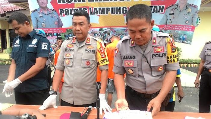 Polres Lamsel Amankan Tiga Kawanan Pembobol ATM Di Natar Lamsel.