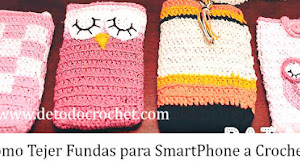 Funda para móvil al crochet