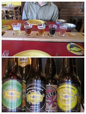 Patagonia two week Itinerary: Beer sampler at Chopen Cerveceria in El Calafate Argentina