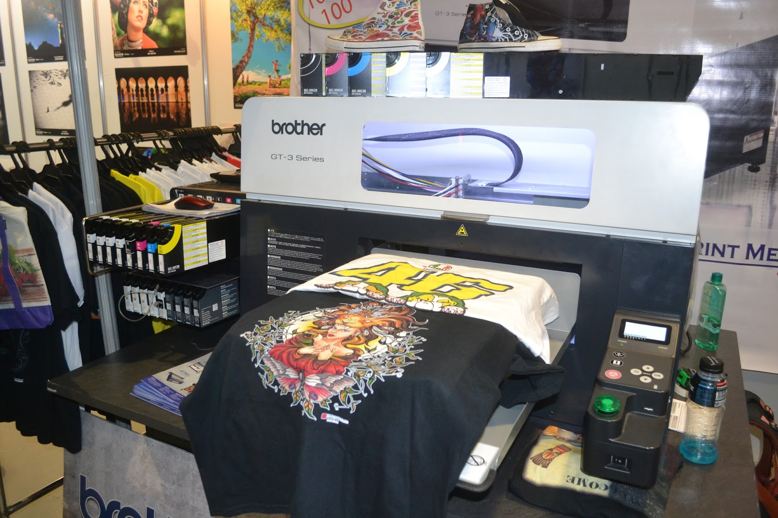 Printer Cost Php 13 To 14M Consumables Water Based Pigment CMYK 4 White Underbase For Dark Shirts Php9k Per Cartridge Of Printing A3