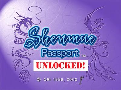 Shenmue Passport débloqué - hacké 1